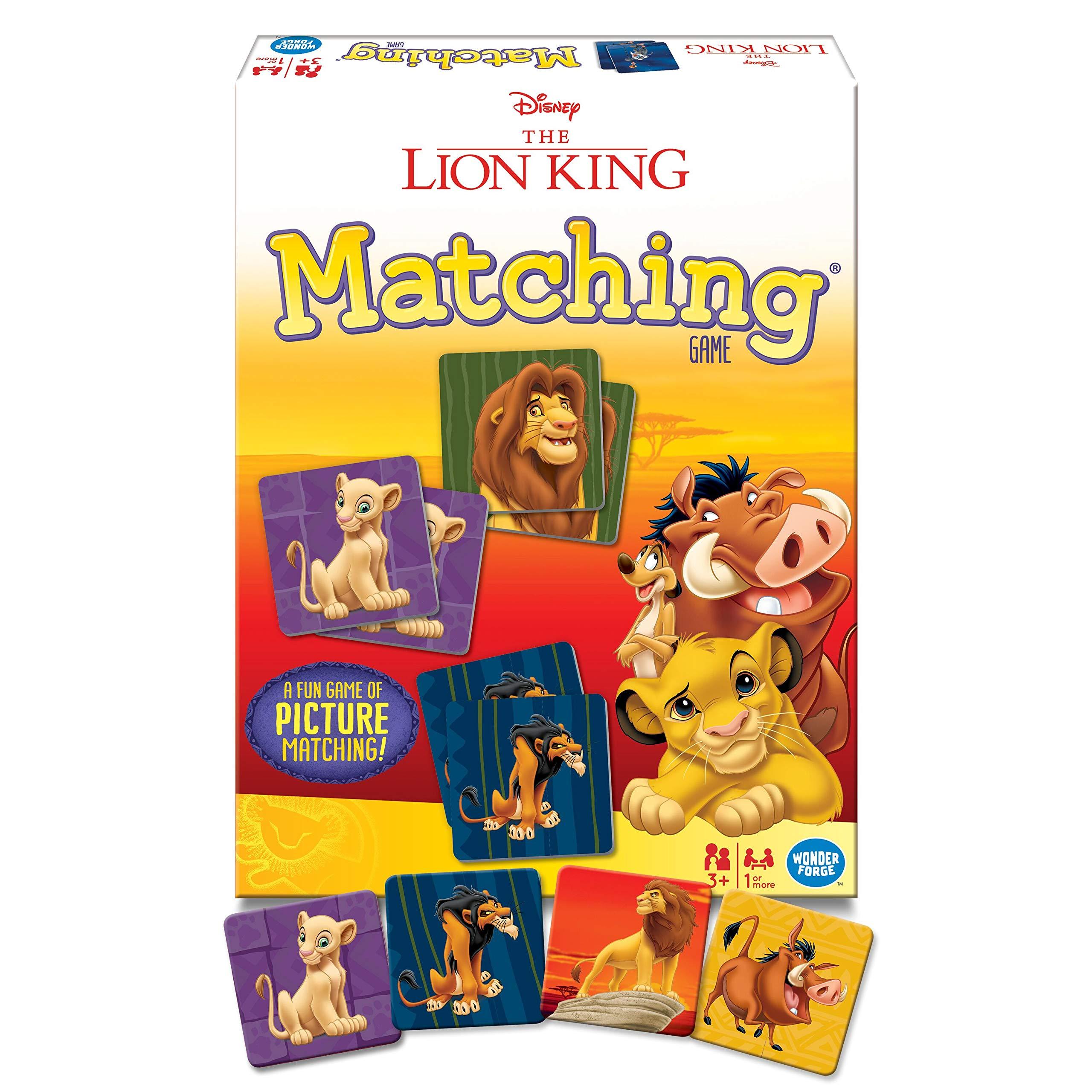 Wonder Forge Disney Lion King Matching Game for Boys & Girls Age 3 & Up - A Fun & Fast Disney Memory Game