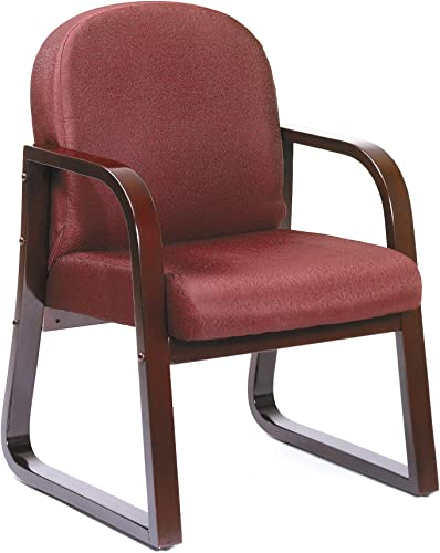 Boss Office Products Mahogany Frame Fabric Side Chair
