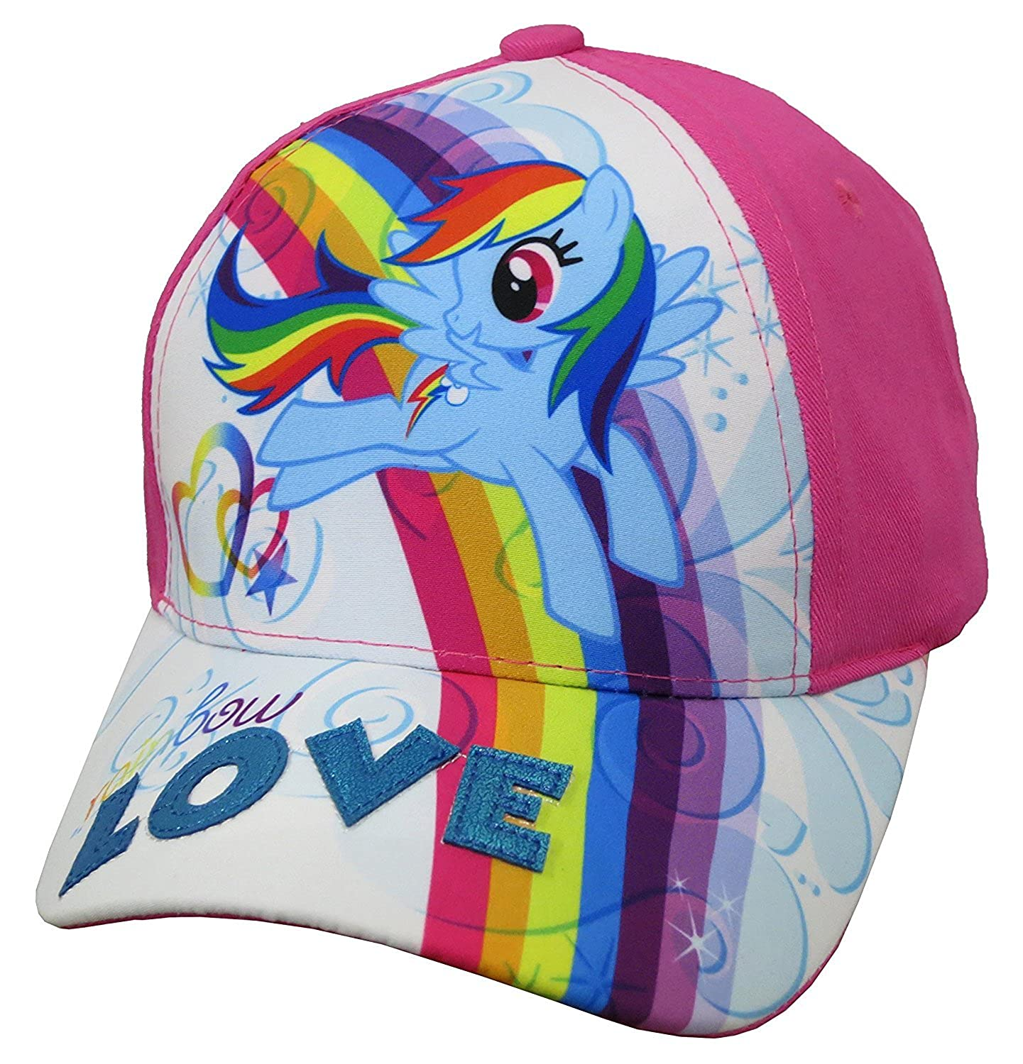 Hasbro Little Girls My Little Pony Rainbow DashCotton Baseball Cap, Age 4-7 Accessory Innovations LPS70721ST