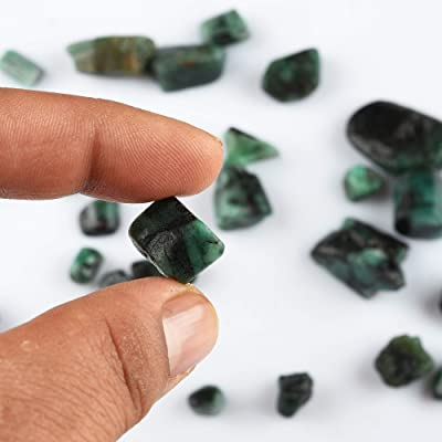 Emerald Natural Rough Raw Crystal Gemstone Piece Gift Wrapped Reiki Energy Green