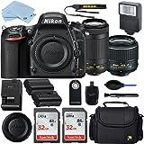 Nikon D750 DSLR Camera with AF-P DX 18-55mm and 70-300mm NIKKOR Zoom Lens + 2 Piece 32GB Sandisk Memory Cards + Professional Accessory Bundle