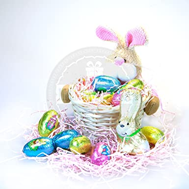 Easter bunny childrens mini hamper basket by moreton gifts eggs easter bunny childrens mini hamper basket by moreton gifts eggs and bunny negle Images