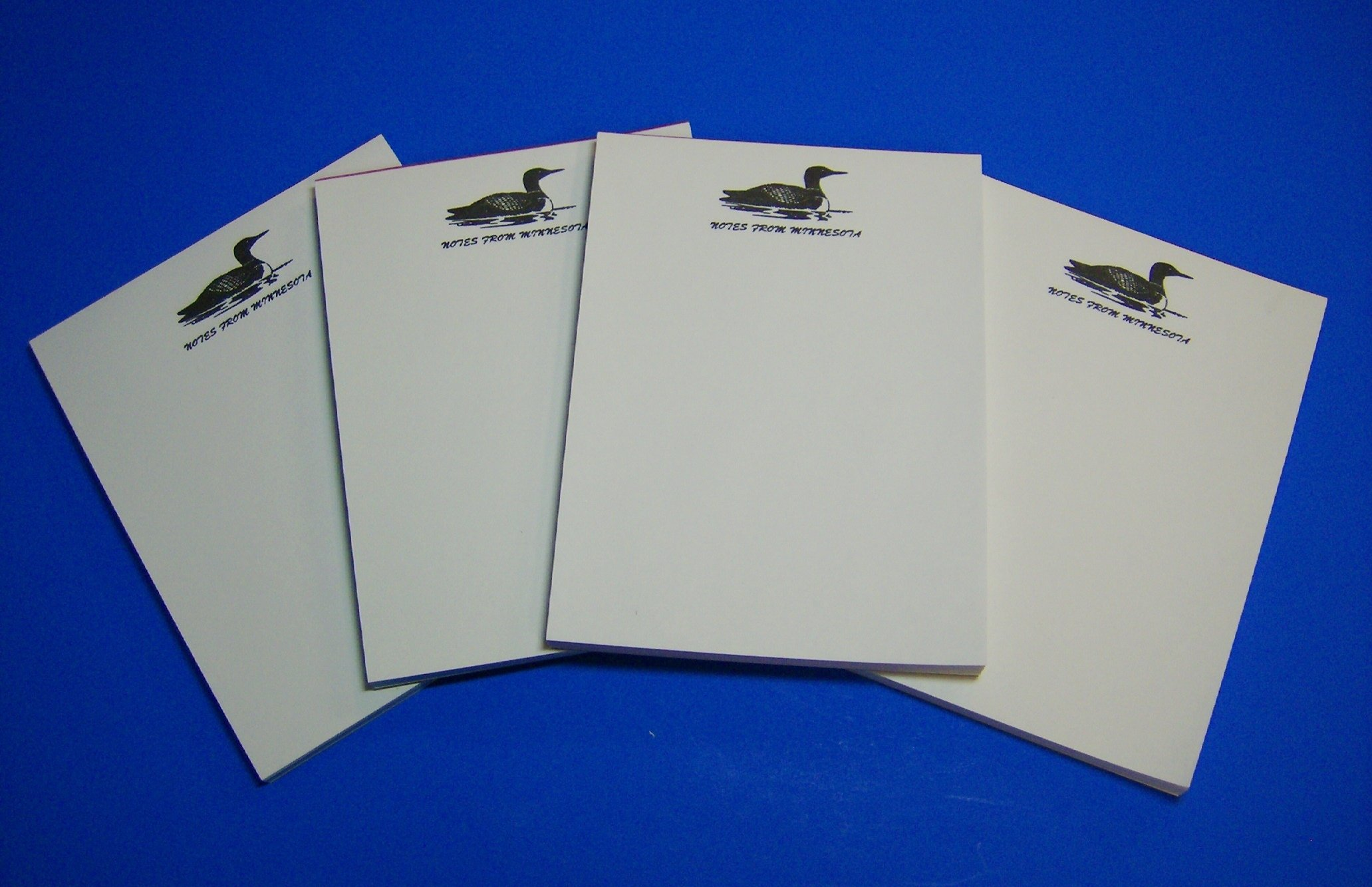 4 - Minnesota Souvenir Loon Notepads Memo Note Pad - Resort Gift Store Cabin Lakes by Select (Image #4)