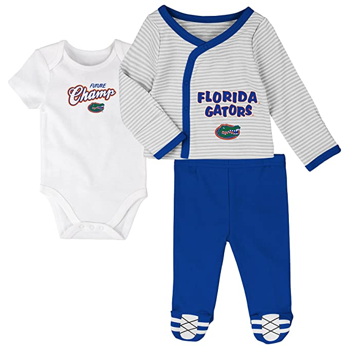 "9977c7216 NCAA by Outerstuff NCAA Florida Gators Newborn ""Future Champ"" 3  Piece Bodysuit,"