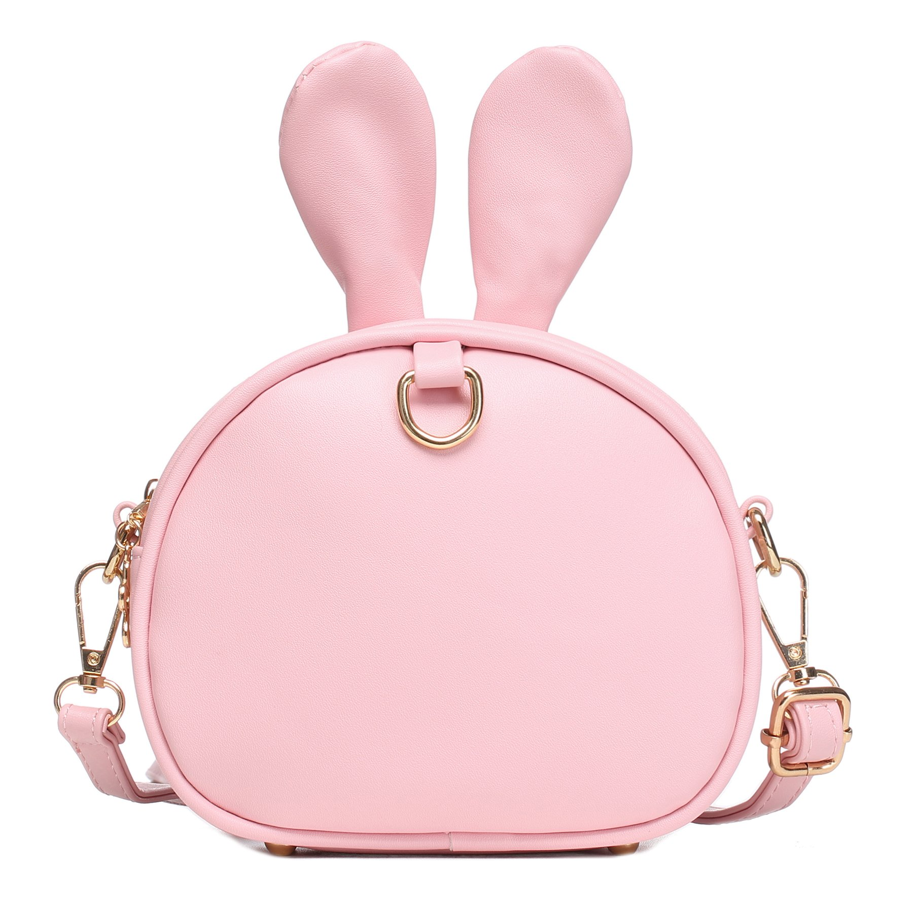 CMK Trendy Kids My First Purse for Toddler Kids Girls Cute Shoulder Bag Messenger Bags with Bunny Ear and Double Slide Zipper Novelty Birthday Gift (82011_Pink) by CMK Trendy Kids (Image #6)