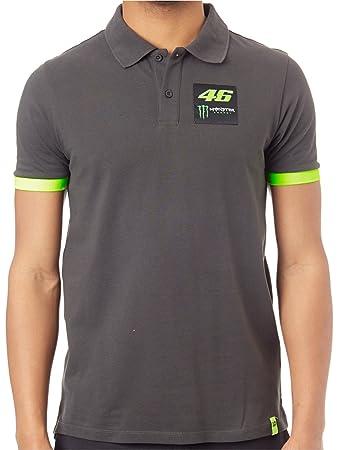 Valentino Rossi Monster Energy Polo Shirt Dual Grau Valentino Rossi