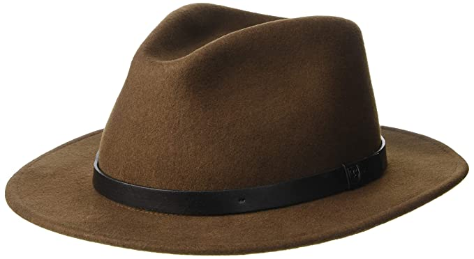d31d0707a47 Amazon.com  Brixton Men s Messer Fedora  Clothing