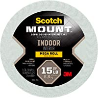 Scotch Mounting, Fastening & Surface Protection 110-LONG/DC, White, Scotch Indoor Mounting Tape, 0.75-inch x 350-inches…