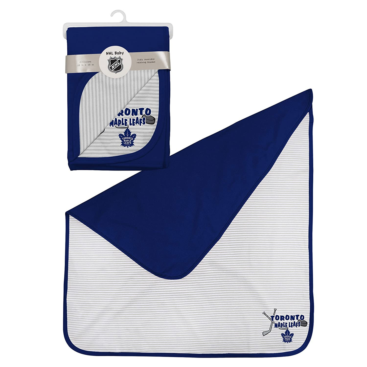 Toronto Maple Leafs 2-Ply Reversible Receiving Blanket