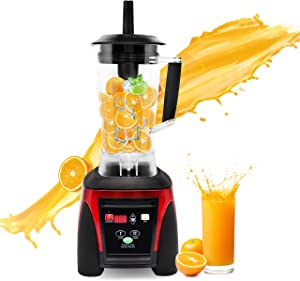 Huanyu Commercial Blender Computer Control 2200W 2L Large Capacity Juicer Multi Mixer Smoothie Maker Soy Milk Baby Food Electric with Radial Cooling Fan&Thermal Protection System Commercial (110-120V)