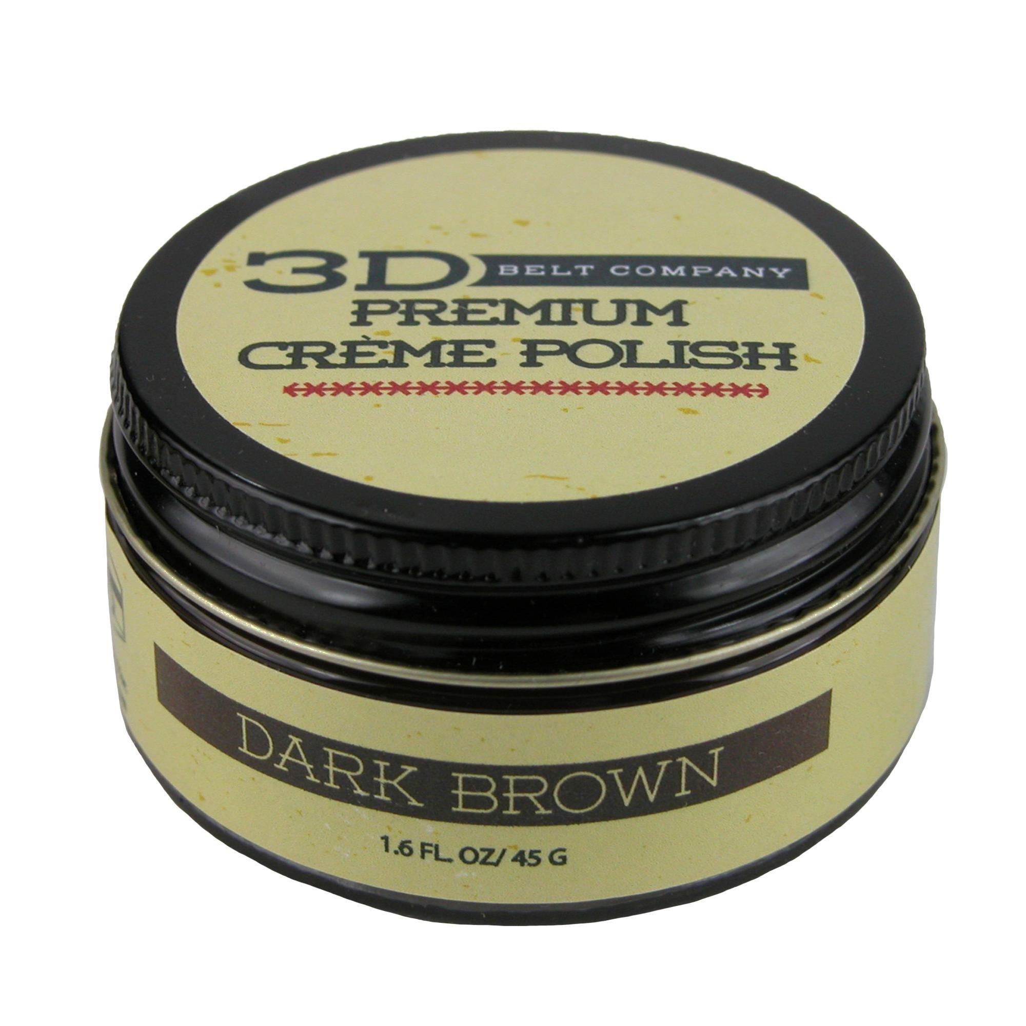 3 D Belt Company 1.6 oz. Creme Leather Polish, Dark Brown