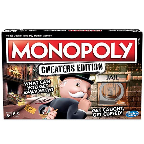 Hasbro Gaming Monopoly Game Cheaters Edition Board Game Amazon Co