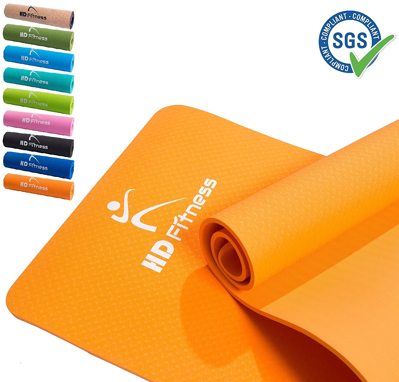 HD Fitness Fitness Yoga Mat, Ideal para Pilates,Yoga, Fitness, Dimensiones:183cm*61cm,Espesor 8mm