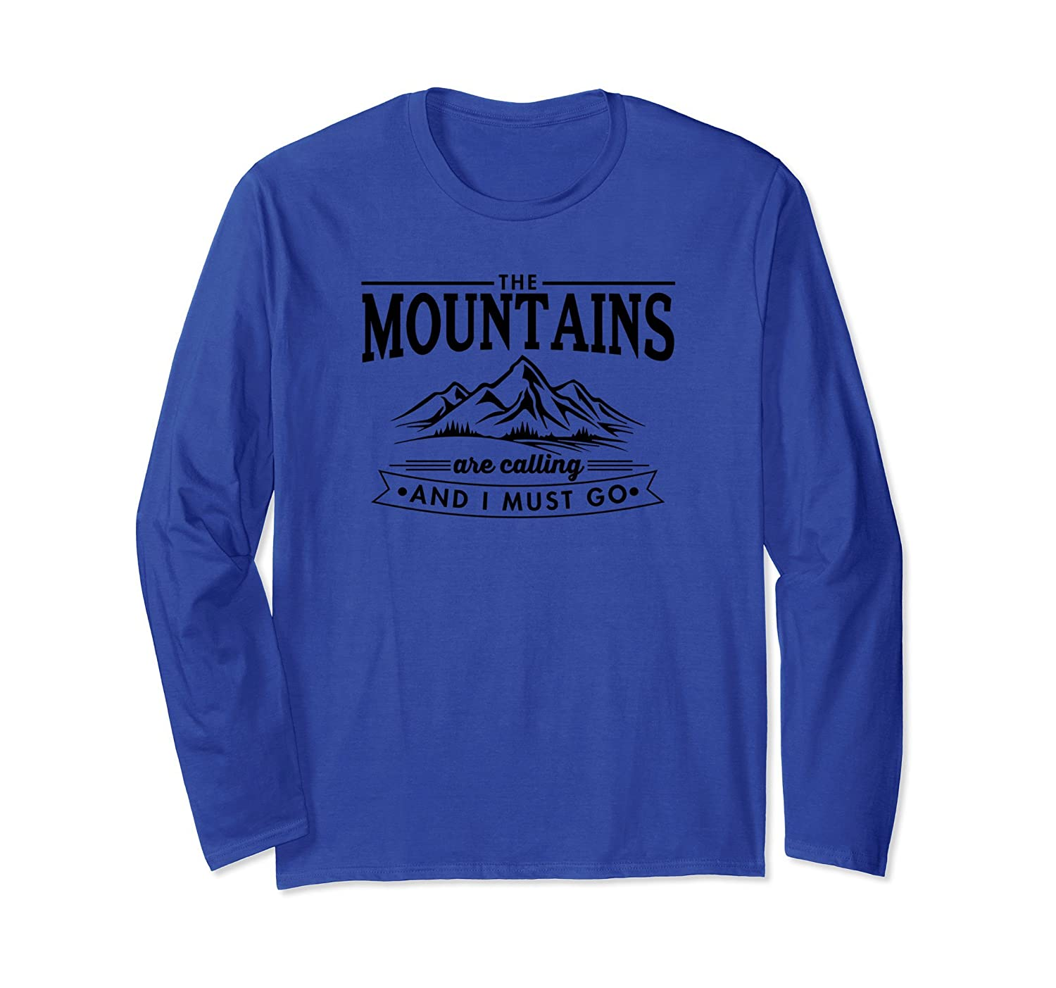 The Mountains Are Calling Long Sleeve T-Shirt Women Teens-fa