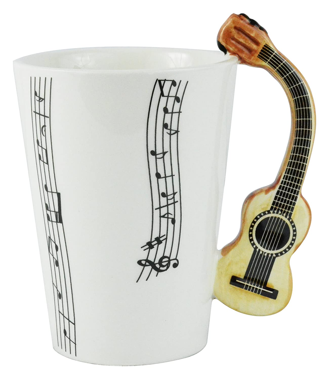 Guitar Musical Coffee Mug, White