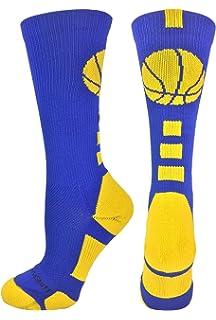 42facd3eb MadSportsStuff Basketball Socks with Basketball Logo Athletic Crew Socks  (Over 20 Colors)