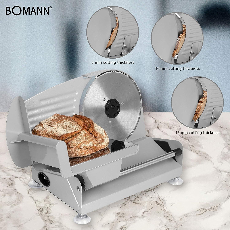 Bomann MA 451 Cortafiambres, 150 W, Acero Inoxidable: Bomann ...