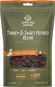 Farmland Traditions Filler Free Dogs Love Turkey & Sweet Potato Premium Jerky Treats 10.8 oz. Total (12 Pack - 0.9 oz. Each)