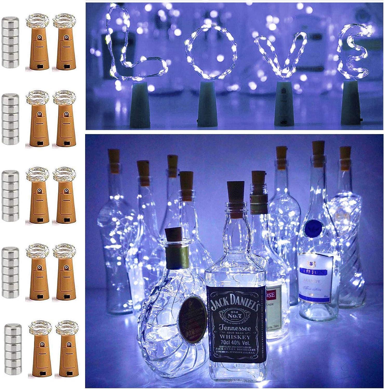 8X18 LEDs Solar LED Copper Lamp Wine Bottle Lights Cork Shape Night Fairy String