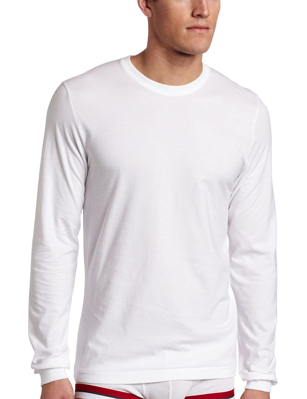 Plain white long sleeve shirt custom shirt for Mens long sleeve white t shirt