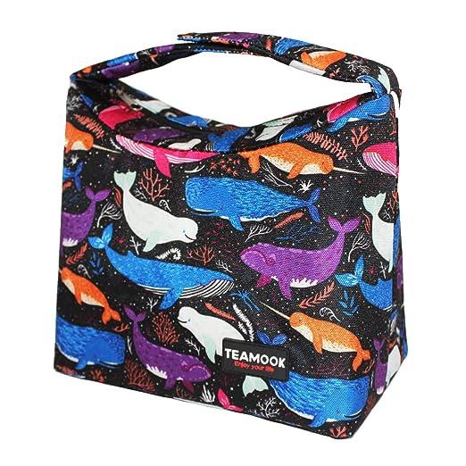 TEAMOOK Bolsa para almuerzo Lunch Bag almuerzo recinto isot/érmica Fourre-tout para la escuela y el trabajo
