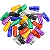 28 Pack Presta Valve Cap Multi-Color Anodized Machined Aluminum Alloy Bicycle Bike Tire Valve Caps Dust Covers French Style - Domain Cycling