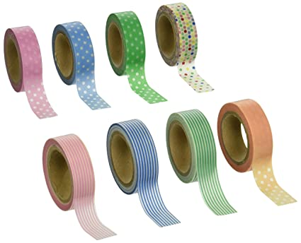 Amazoncom Japanese Washi Tape 8 Roll Starter Pack 30ftroll