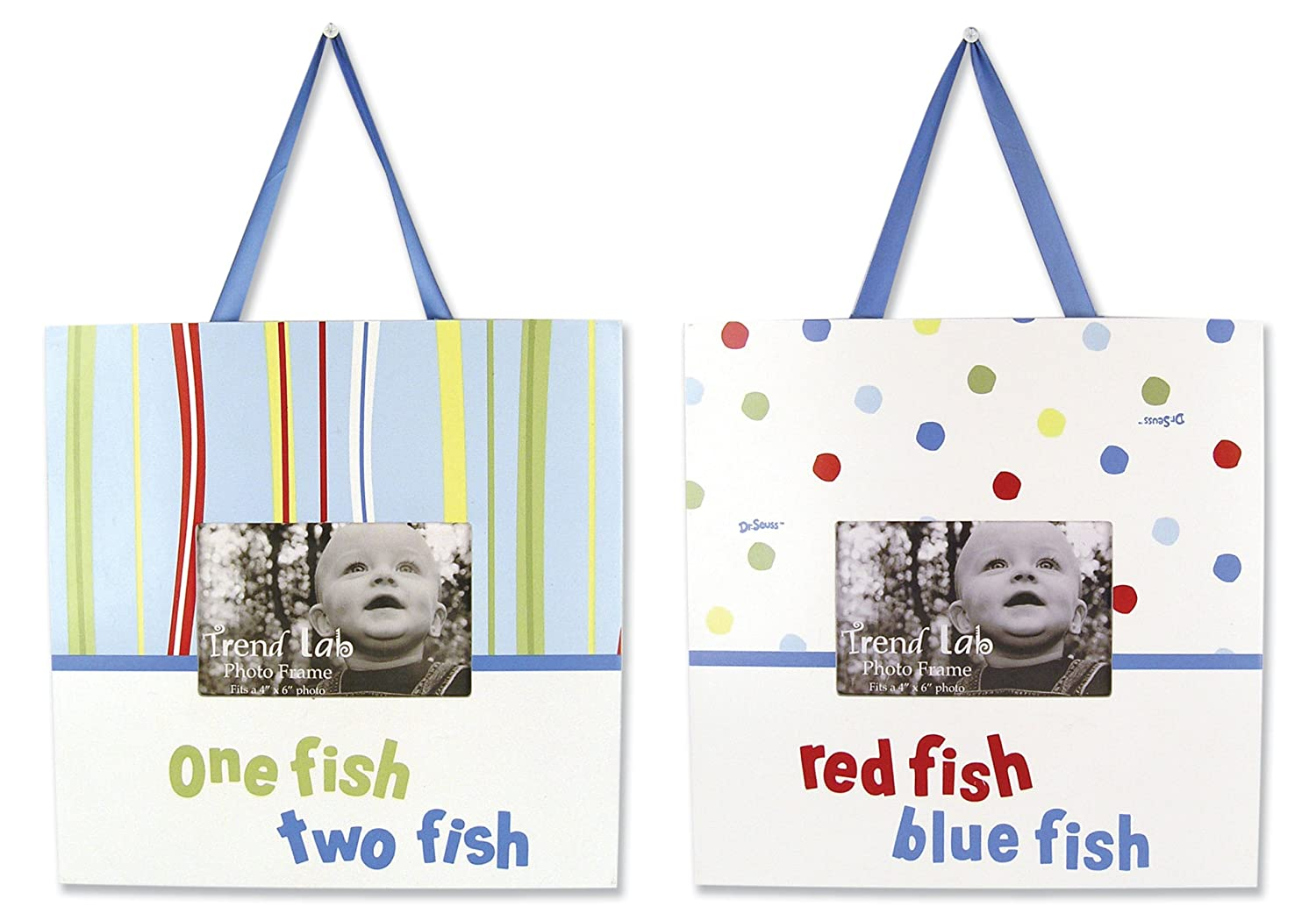 amazon com trend lab dr seuss frame set one fish two fish 2