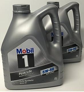 Aceite Motor MOBIL 1 PEAK LIFE 5W50 2x4 litros=8 LITROS