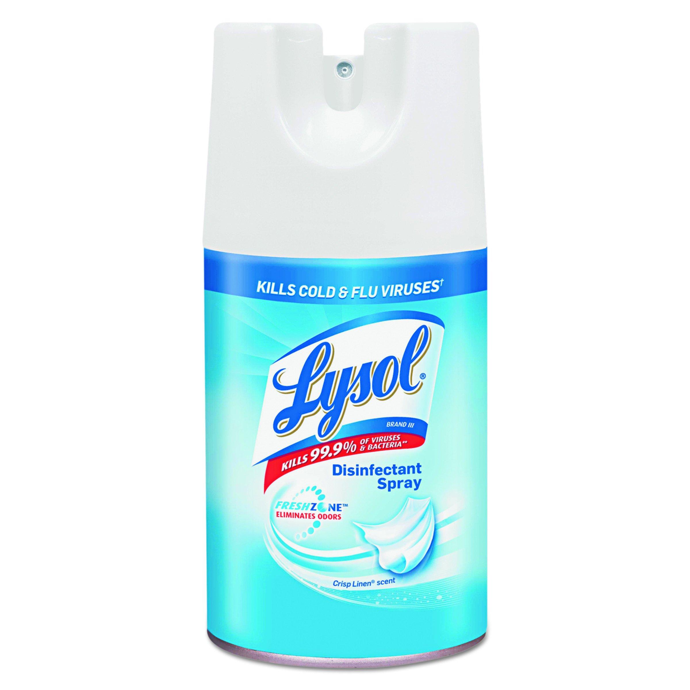 Lysol Disinfectant Spray, Crisp Linen, 84oz (12X7oz)