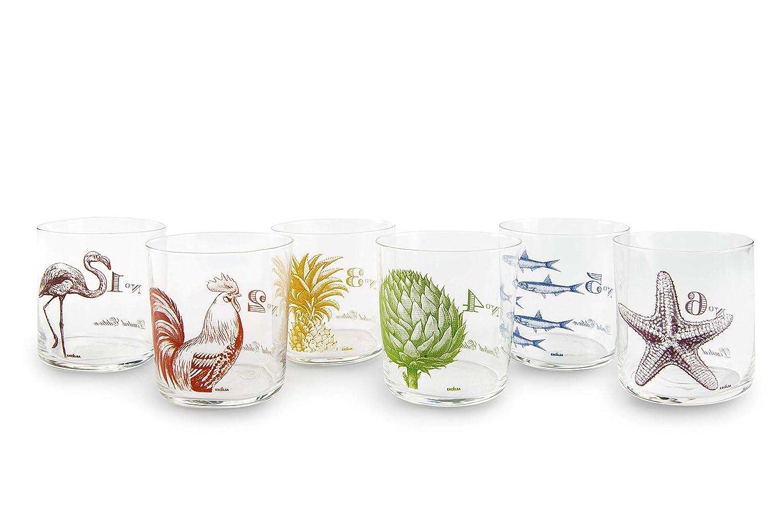 Excelsa Vinci cristal Juego de 6 vasos de agua