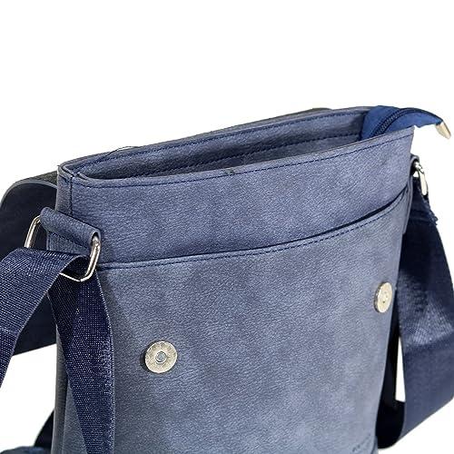 EGON FURSTENBERG Borsello Uomo EcoPelle di colore Blu. 269.EF-BAG585BL   Amazon.it  Scarpe e borse e02f2d78ae6