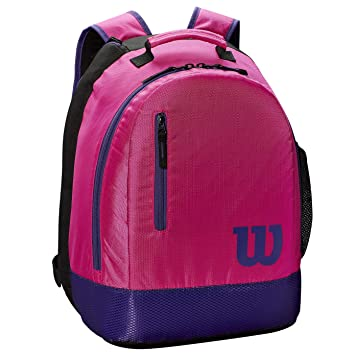 WILSON Mochila Youth Backpack Rosa Morado Junior: Amazon.es: Deportes y aire libre