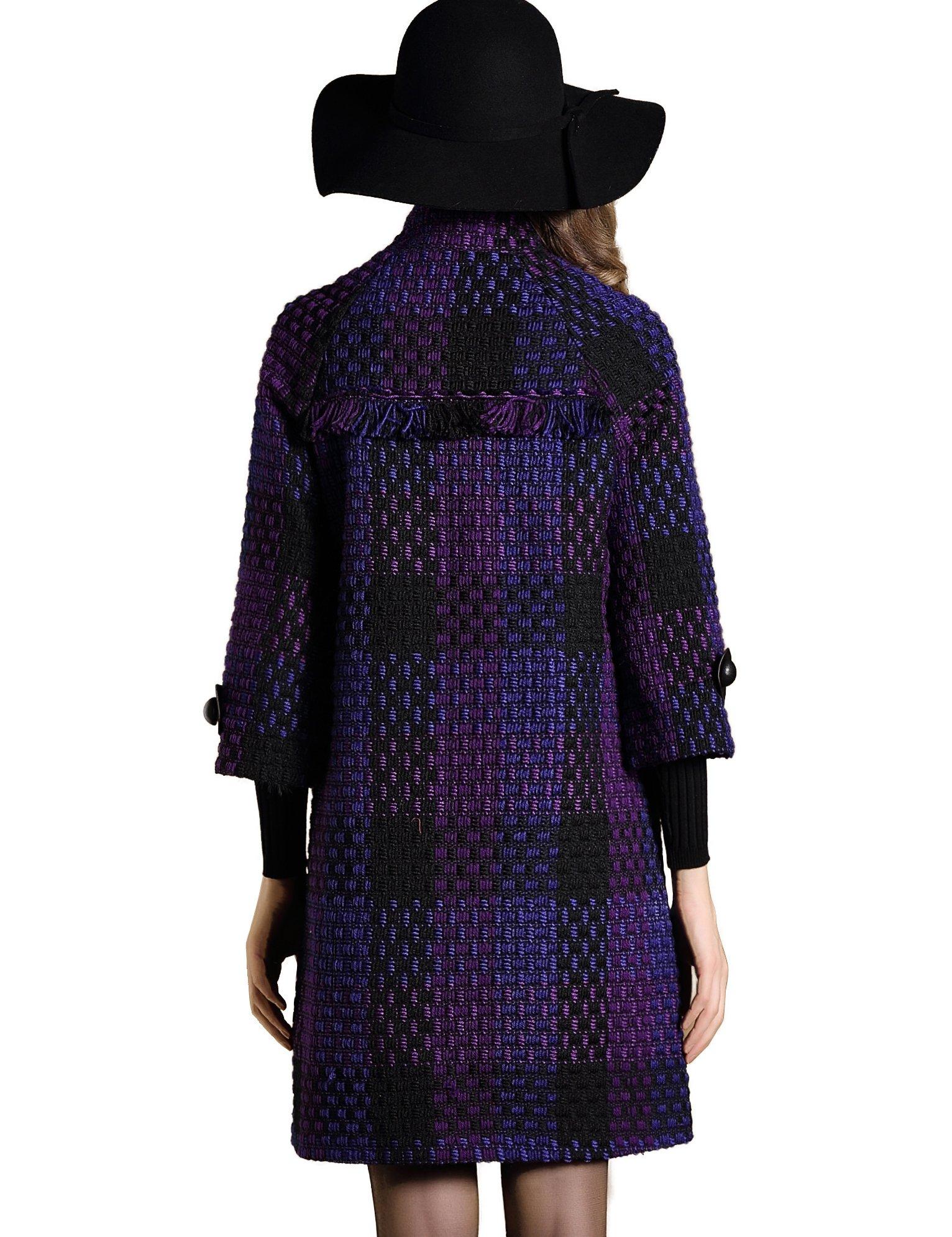 DanMunier Women's Winter Classic Double-Breasted Coat #4358 (M, Purple) by DanMunier (Image #5)