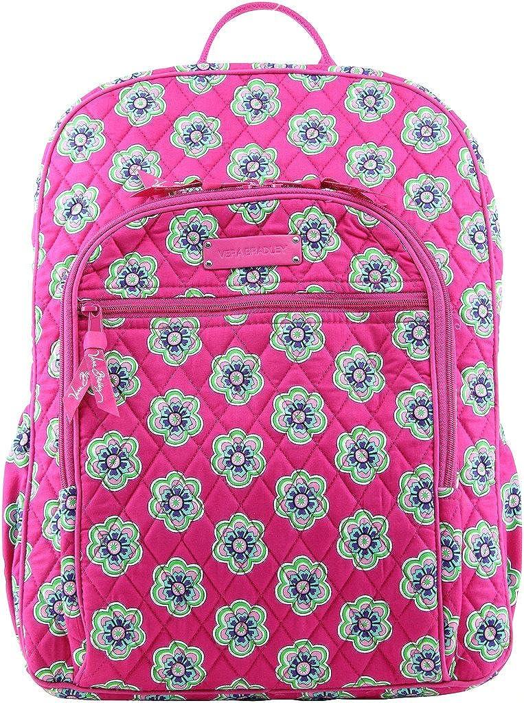 Vera Bradley Campus Backpack, Pink Swirls Flowers