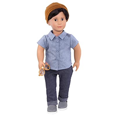 Our Generation- Franco 18 inch Non-posable Boy Regular Fashion Doll- for Ages 3 Years and Up: Toys & Games