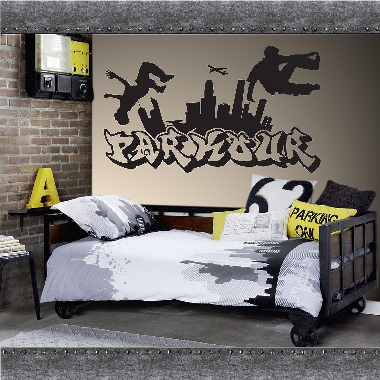 QBEC Parkour Free Running Jumping Estilo Urbano Skate Graffiti Art Adhesivo Decorativo para Pared Entrega Gratuita Reino Unido.