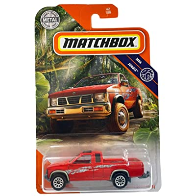 Matchbox '95 Nissan Hardbody (D21) MBX Jungle 62/100, red: Toys & Games