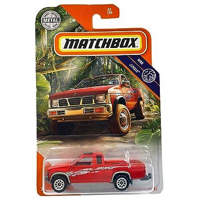 Matchbox '95 Nissan Hardbody (D21) MBX Jungle 62/100, red: Toys & Games