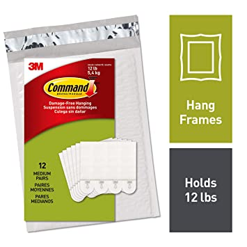Command By 3m Medium Picture Hanging Strips No Tools Or Holes Easy