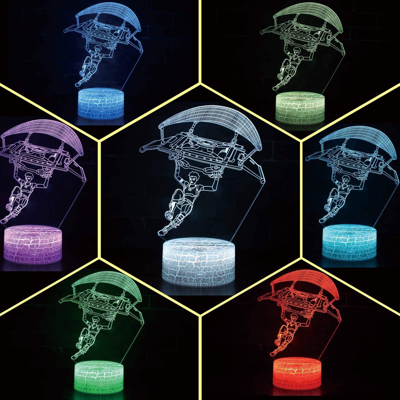 Fantastic3D Light Bedroom Table Lamp Night Light Children Room Decor Toys Decorations (Crack Character Gliding)