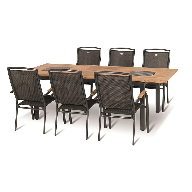 Hartman Gartenmöbelset 7teilig Concept Tisch 180/240x100 cm inkl Gartenstühle