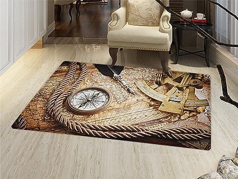amazon com compass bath mats carpet vintage navigation voyage