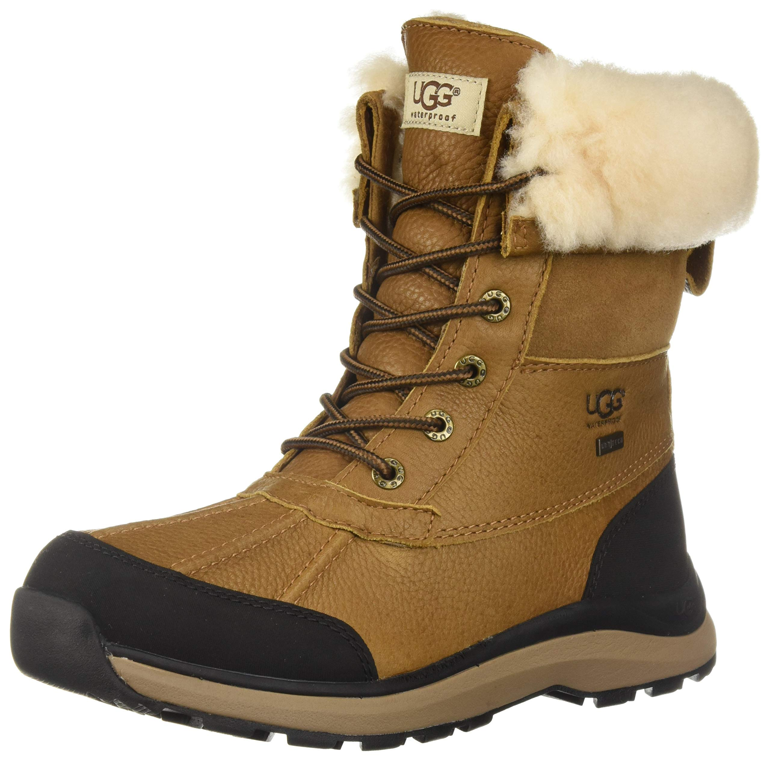 UGG Women's W Adirondack Boot III Snow, Chestnut, 7 M US by UGG