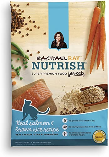 Rachael Ray Nutrish Natural Dry Cat Food, Salmon Brown Rice Recipe, 3 lbs Pack of 2