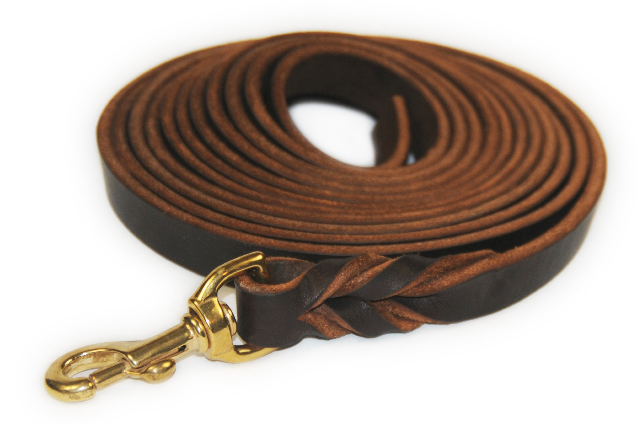 Dean and Tyler Braided Track Dog Leash with Solid Brass Hardware, 26-Feet by 3/8-Inch, Brown