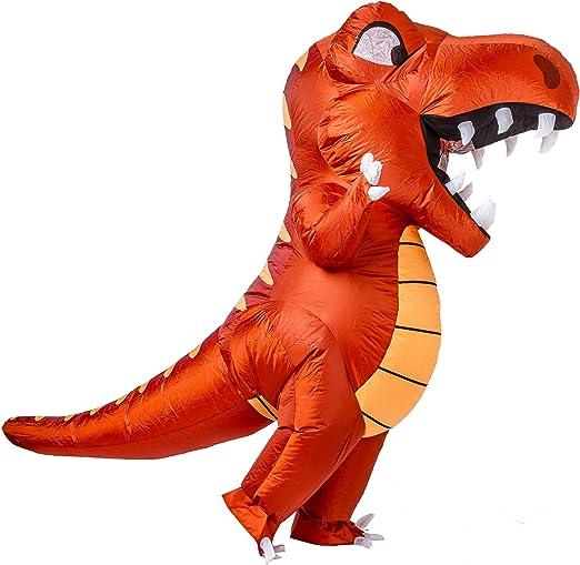 Amazon.com: Disfraz hinchable de dinosaurio de Spooktacular ...