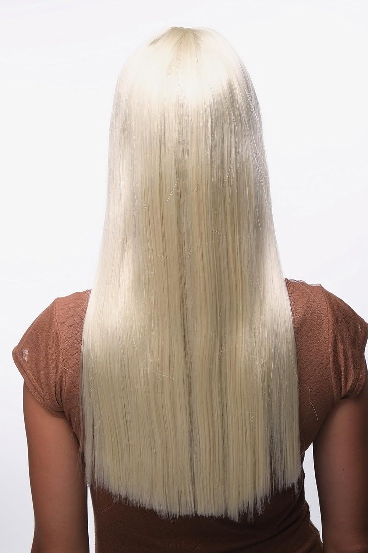 Wig Me Up Perücke Modern Dunkelbraun Dunkelbraun Pony Gerader Schnitt Elegante Glatte Haare 60 Cm Gfw373 4