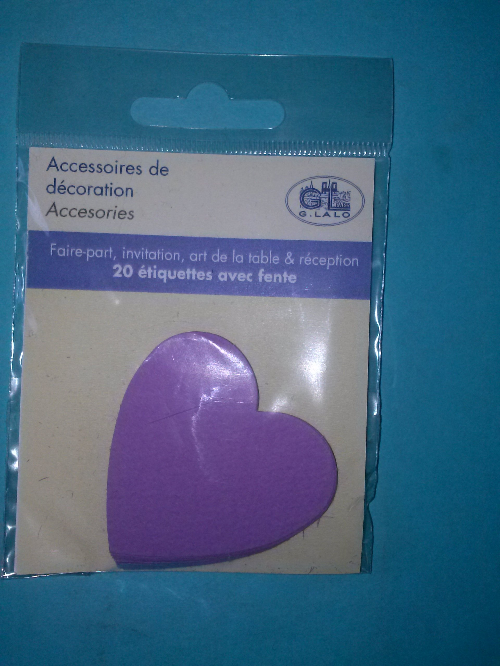 G.Lalo Decorative Accessories Hearts 20 Per Package (Violet)
