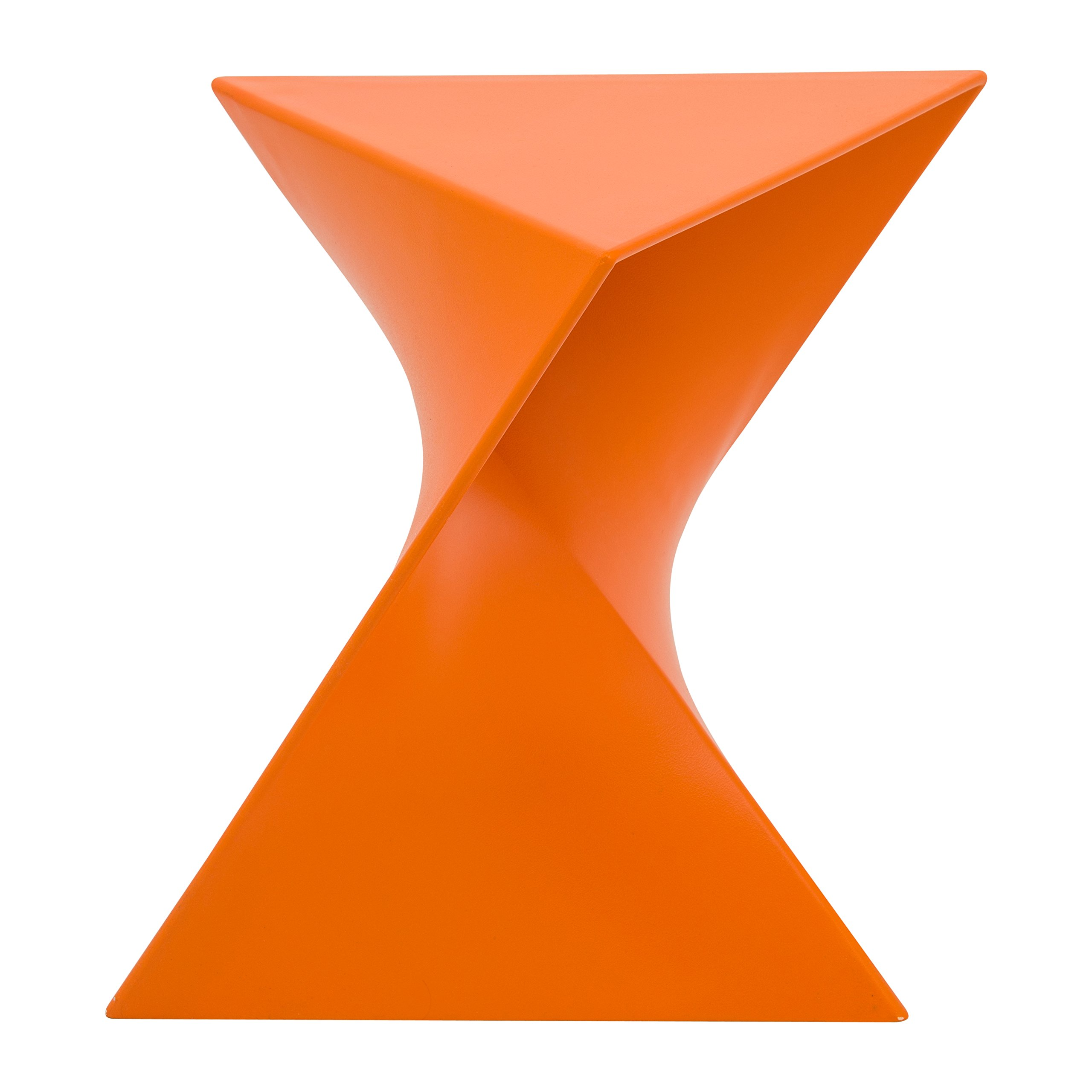 LeisureMod Randolph Modern Accent Side Table Indoor and Outdoor Use (Orange)